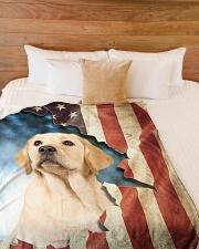 "Beautiful Labrador  Large Fleece Blanket - 60"" x 80"" aos-coral-fleece-blanket-60x80-lifestyle-front-02"