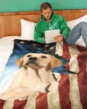 "Beautiful Labrador  Large Fleece Blanket - 60"" x 80"" aos-coral-fleece-blanket-60x80-lifestyle-front-06"