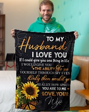 """To my husband - You are special to me Small Fleece Blanket - 30"""" x 40"""" aos-coral-fleece-blanket-30x40-lifestyle-front-09"""