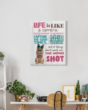 German Shepherd - Life is like a camera 16x20 Gallery Wrapped Canvas Prints aos-canvas-pgw-16x20-lifestyle-front-03