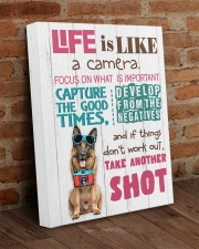 German Shepherd - Life is like a camera 16x20 Gallery Wrapped Canvas Prints aos-canvas-pgw-16x20-lifestyle-front-09