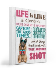 German Shepherd - Life is like a camera 16x20 Gallery Wrapped Canvas Prints front