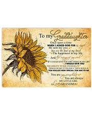 Nana to my granddaughter - You're my little girl 17x11 Poster front