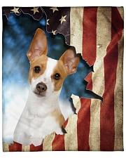 """Beautiful Rat Terrier Fleece Blanket - 50"""" x 60"""" front"""