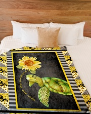 """Turtle - You are my sunshine Large Fleece Blanket - 60"""" x 80"""" aos-coral-fleece-blanket-60x80-lifestyle-front-02"""