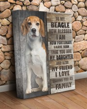 Beagle - You are my daughter 11x14 Gallery Wrapped Canvas Prints aos-canvas-pgw-11x14-lifestyle-front-18
