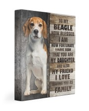Beagle - You are my daughter 11x14 Gallery Wrapped Canvas Prints front