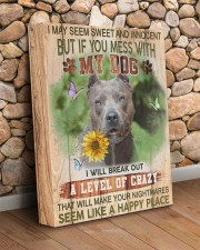 Pit Bull - Don't mess with my dog 11x14 Gallery Wrapped Canvas Prints aos-canvas-pgw-11x14-lifestyle-front-18