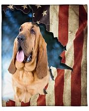 "Beautiful Bloodhound Fleece Blanket - 50"" x 60"" front"