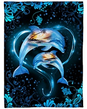 """Dolphins are always in my heart Large Fleece Blanket - 60"""" x 80"""" front"""