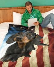 "Beautiful Dachshund Large Fleece Blanket - 60"" x 80"" aos-coral-fleece-blanket-60x80-lifestyle-front-06"