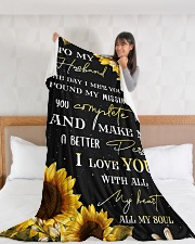 """To my husband - You're my missing piece Large Fleece Blanket - 60"""" x 80"""" aos-coral-fleece-blanket-60x80-lifestyle-front-11"""