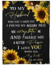 """To my husband - You're my missing piece Large Fleece Blanket - 60"""" x 80"""" front"""
