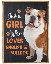 """Just a girl who loves English Bulldog Large Fleece Blanket - 60"""" x 80"""" front"""