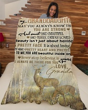 """Nana to my granddaughter - I'll be there for you Large Fleece Blanket - 60"""" x 80"""" aos-coral-fleece-blanket-60x80-lifestyle-front-04"""