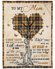 """To my loving mom - I will always be your girl Large Fleece Blanket - 60"""" x 80"""" front"""