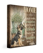 German Shepherd - Home 11x14 Gallery Wrapped Canvas Prints front