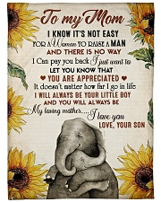 """To my mom - I will always be your little boy Large Fleece Blanket - 60"""" x 80"""" front"""