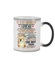 Nana to my grandson - Always remember I love you Color Changing Mug tile