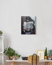 Black Labrador - Good morning 11x14 Gallery Wrapped Canvas Prints aos-canvas-pgw-11x14-lifestyle-front-03