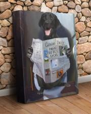 Black Labrador - Good morning 11x14 Gallery Wrapped Canvas Prints aos-canvas-pgw-11x14-lifestyle-front-18
