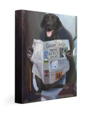 Black Labrador - Good morning 11x14 Gallery Wrapped Canvas Prints front