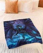 """Magical dragon Small Fleece Blanket - 30"""" x 40"""" aos-coral-fleece-blanket-30x40-lifestyle-front-01"""