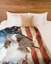 "English Springer Spaniel  Large Fleece Blanket - 60"" x 80"" aos-coral-fleece-blanket-60x80-lifestyle-front-02"