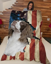 "English Springer Spaniel  Large Fleece Blanket - 60"" x 80"" aos-coral-fleece-blanket-60x80-lifestyle-front-04"