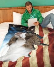 "English Springer Spaniel  Large Fleece Blanket - 60"" x 80"" aos-coral-fleece-blanket-60x80-lifestyle-front-06"