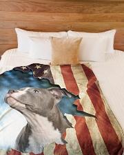 "Beautiful Staffordshire Bull Terrier Large Fleece Blanket - 60"" x 80"" aos-coral-fleece-blanket-60x80-lifestyle-front-02"