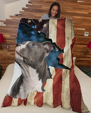 "Beautiful Staffordshire Bull Terrier Large Fleece Blanket - 60"" x 80"" aos-coral-fleece-blanket-60x80-lifestyle-front-04"