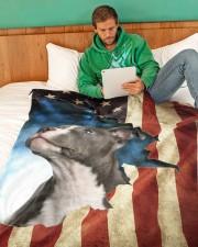"Beautiful Staffordshire Bull Terrier Large Fleece Blanket - 60"" x 80"" aos-coral-fleece-blanket-60x80-lifestyle-front-06"