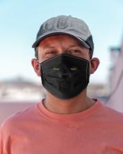 Amazing Black Cat Cloth face mask aos-face-mask-lifestyle-06