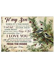 To my son - I love you more than you'll know 17x11 Poster front