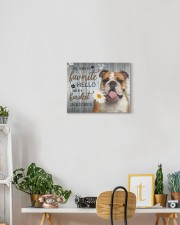 English bulldog - My favorite hello 14x11 Gallery Wrapped Canvas Prints aos-canvas-pgw-14x11-lifestyle-front-03