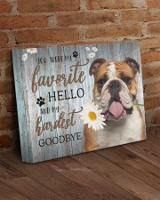 English bulldog - My favorite hello 14x11 Gallery Wrapped Canvas Prints aos-canvas-pgw-14x11-lifestyle-front-09