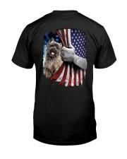 Cairn Terrier American flag Classic T-Shirt back