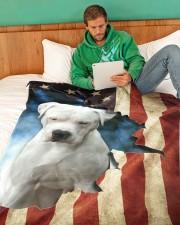 """Custom 6 Large Fleece Blanket - 60"""" x 80"""" aos-coral-fleece-blanket-60x80-lifestyle-front-06"""