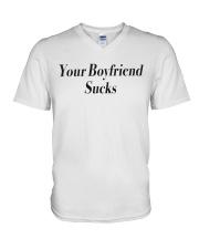 Your boyfriend sucks  V-Neck T-Shirt thumbnail