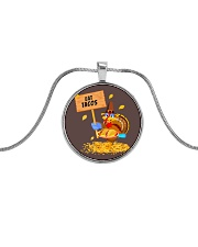 Turkey Eat Tacos  Metallic Circle Necklace thumbnail