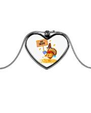Turkey Eat Tacos  Metallic Heart Necklace front