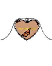 BLM Jewelry Metallic Heart Necklace thumbnail