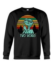Two Word One Finger Crewneck Sweatshirt thumbnail