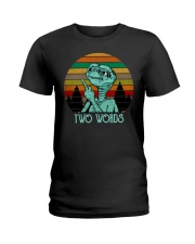 Two Word One Finger Ladies T-Shirt thumbnail