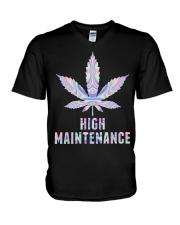 Weed High V-Neck T-Shirt thumbnail