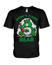 Dont Care Bear V-Neck T-Shirt thumbnail