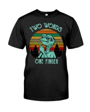 Two Word One Finger Premium Fit Mens Tee thumbnail