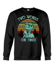 Two Word One Finger Crewneck Sweatshirt tile