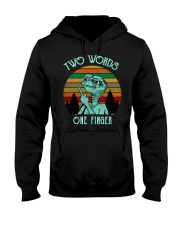 Two Word One Finger Hooded Sweatshirt thumbnail